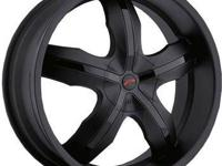 "Set of four (4) Platinum Black Widow 18"" Wheels. These"