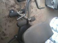 I have Gold Health club bench plus 140lbs of weights 4