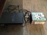 Play Station 2 system with memory card, A/V cords and 7