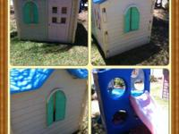 Play house for sale 45 and slide for 15 does have a