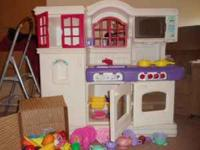 little tikes play kitchen w/ misc food & dishes Please