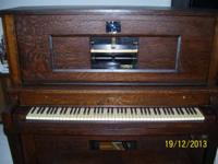 THIS IS MY HARRIS & COMPANY  PLAYER PIANO.  MECHANICALS