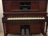 Player Piano by Conway. Needs a little TLC.  The foot