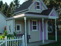 Custom Victorian playhouse, 8'x 12' main floor, 8'x 8'