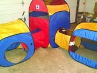 Playhut play tents 1 lg tent and 2 medium tents