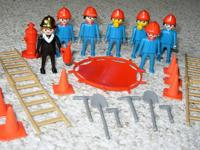 Playmobil plastic figures are used, clean and in good