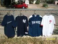 have 4 jerseys two ar yankees and 0ne phillies and one
