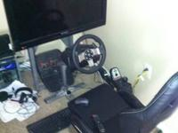 Have playseat with tv stand addition, logitech g27