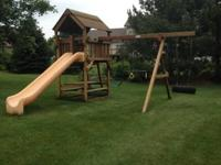 Woodplay Redwood Playset. Skytop with 3 positions for