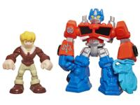 It's Optimus Prime and Cody Burns to the rescue, and