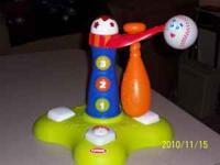 we have a playskool swing and score baseball toy. It