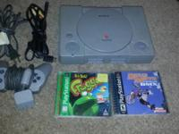 I am selling a Playstation 1 with 2 Games. PS 1