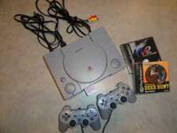 Playstation 1 and 2 games 2 controllers, and all the