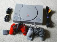 Original PlayStation 1 All hookups and 2 Controllers