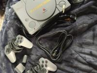 Playstation 1. Still working, pretty good condition,