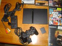 For Sale: Playstation 2, with memory card, all cables