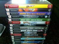 *****PLAYSTATION 2,,,,,, (16) GAMES, MAKE OFFER,
