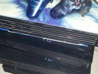 I have 4 fat playstation 2's for sale, will include 4