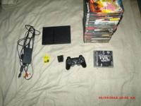 $75.00 OBO We have a playstation 2 with 24 PS2 games,