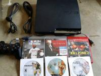160 GB with 6 games GTA 5, Hitman Absolution, Killzone