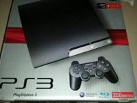 Playstation 3 with 250 gigabyte hard drive.