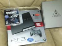 Ps3 with 2 controllers, turtle beach headphones,  Hit