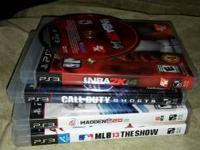 Playstation 3 with 5 games and two controllers. Only