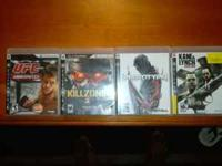 I have UFC 2009, killzone2, prototype, and kane & lynch