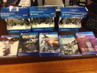 New ps4, 500GB jet black, with 3 New video game
