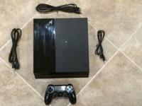 PLAYSTATION 4 500GB GAMING SYSTEM USED  THIS