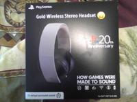 Rare anniversary edition of the gold wireless headset