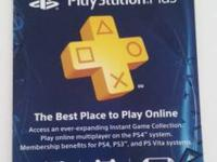 One year PlayStation Plus Card Purchased from Best Buy
