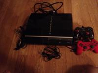 Playstation3 and red dual shock wireless controller