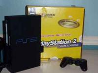 Playstation 2 console, 1 controller and cables $50