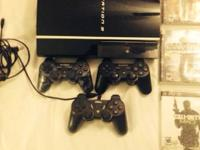 Playstation 3, 80gig good condition. Comes with 2
