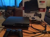 PlayStation 3 console with wireless controller and all