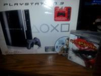 PLAYSTATION 3 WITH ONE CONTROLLER AND 2 GAMES GOD OF