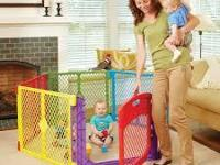 PlayYard Baby Pet Safety Gate Fence Indoor Outdoor Pen