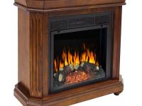 This compact fireplace takes up little space but