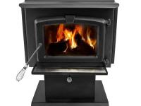 This non-catalytic Pleasant Hearth wood burning stove