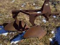 two bottom plow in good shape (rust but no cracks or