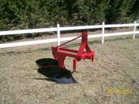 Two bottom plow for category one, three point hitch. .