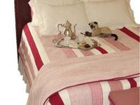 Plow & Hearth King Size Quilts (2) Pet, bug and smoke