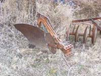 Wide verity of garden tractor implements. Plows,