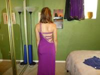 I am selling my gorgeous purple prom gown for $200. I