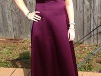 Long plum/purple prom, ball, evening gown dress. Size