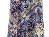 Plus size geometric print skirt with a wide waist band