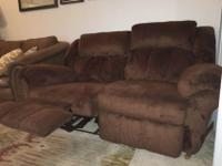 Super comfy brown plush love seat for sale. Each