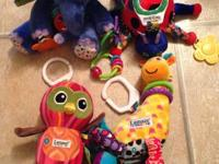 2 Lamaze Brand toys: Owl has a squeaking moon, star