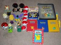 Seller a variety of pokemon collectibles. This would